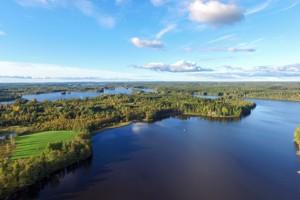 Luftbild vom Lilla Nätaren - hier von Südost nach Norden fotografiert.