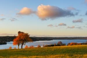 Der Nachbar- See Ören in Schweden in der Abendsonne.