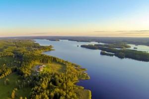 Luftbild vom Stora Nätaren - hier von Nordost nach Süden fotografiert.