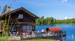 Our boathouse at lake Bunn in Sweden.