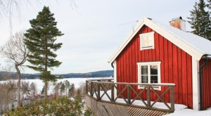 Winter holiday with a view in our cottage at lake Bunn in Sweden.