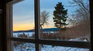 The view from the window of the sauna in our cottage Visthusboden in Sweden.