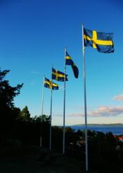 Aussichtspunkt im Stadtpark Jönköping, Schweden.